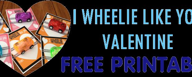 Free printable food free valentine cars