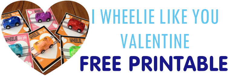 Free printable food free valentine cars