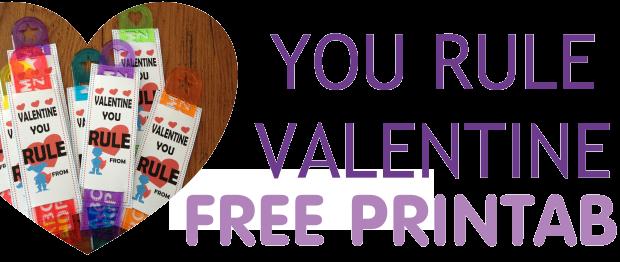 Free printable food free valentine rulers