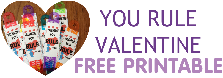 Free printable food free valentine rulers
