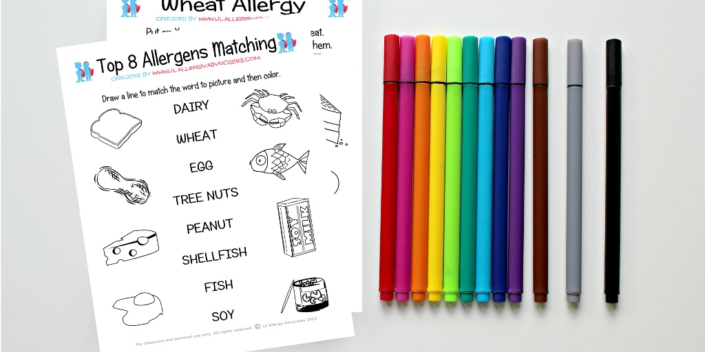 photograph about Printables Food known as Foods Allergy Game and Understand Printables - Lil Allergy