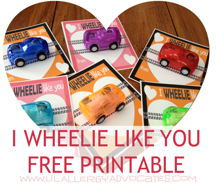 Valentine's Day Wheelie Like You Card Printable