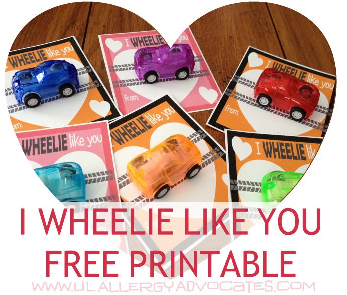 Valentine's Day Wheelie Like You Card Printable
