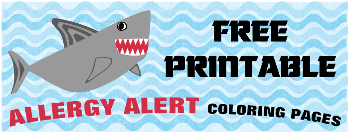 Food Allergy Shark Coloring Pages Lil Allergy Advocates