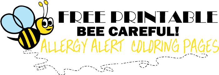 free printable allergy alert coloring pages