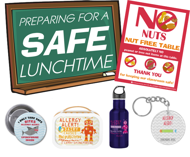 Safe lunchtime with Food Allergy Tips