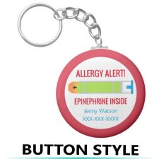 Allergy Alert Key Chains