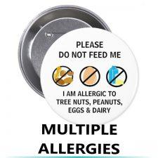 allergy alert buttons