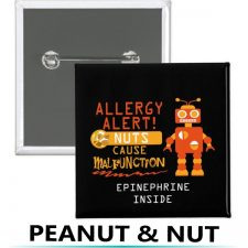 allergy alert buttons