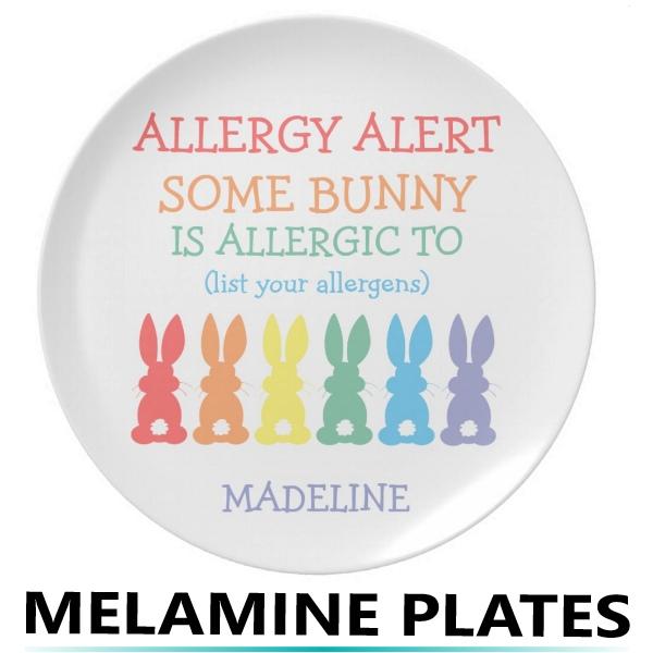 Food Allergy Alert Plates