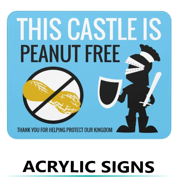 Nut Free Signs