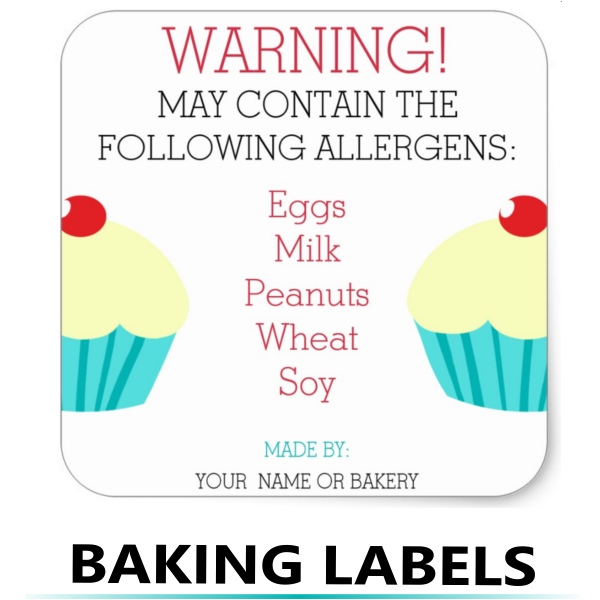 allergen baking labels