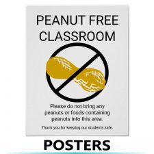 Food Allergy Alert Posters and Decals