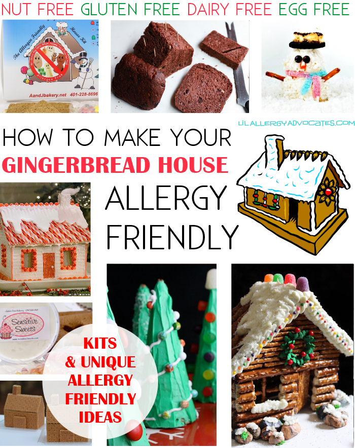 Allergy Friendly Gingerbread House