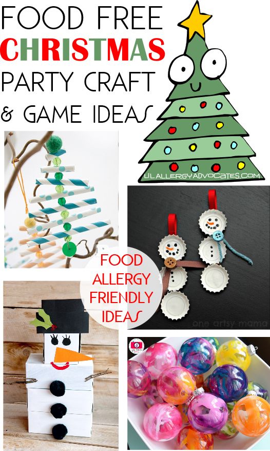 Food free christmas party ideas lil allergy advocates for Easy christmas food crafts