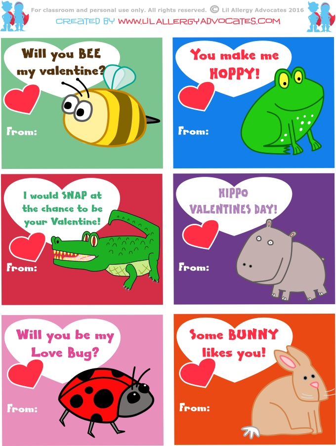 image regarding Kids Valentines Printable referred to as Cost-free Little ones Valentine Printables - Lil Allergy Advocates