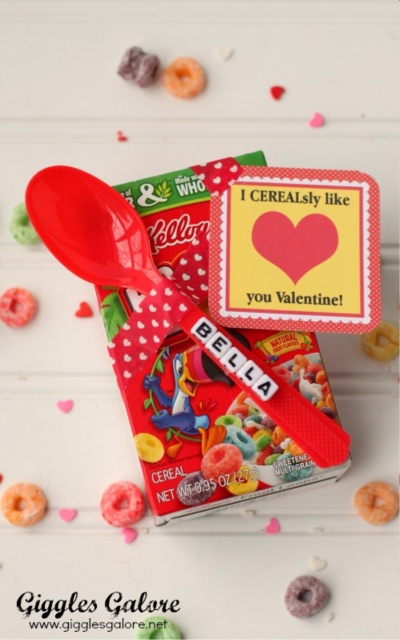 Valentines Day Candy Free Ideas Cereal