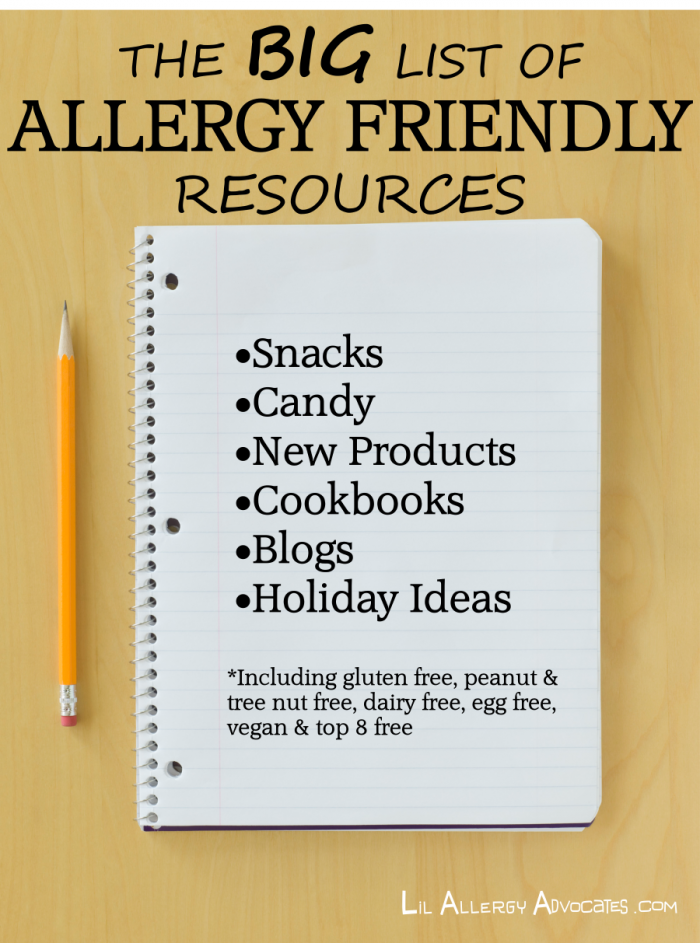 Allergy Friendly Resources