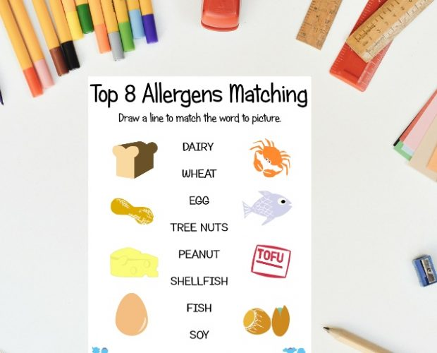 Top 8 Allergens Matching Game