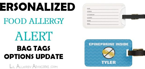 Personalized Allergy Alert Large Tags Update