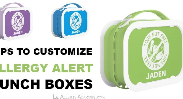 Tips to Customize Allergy Alert Lunch Box