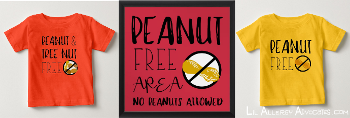 New Peanut And Tree Nut Free Shirts