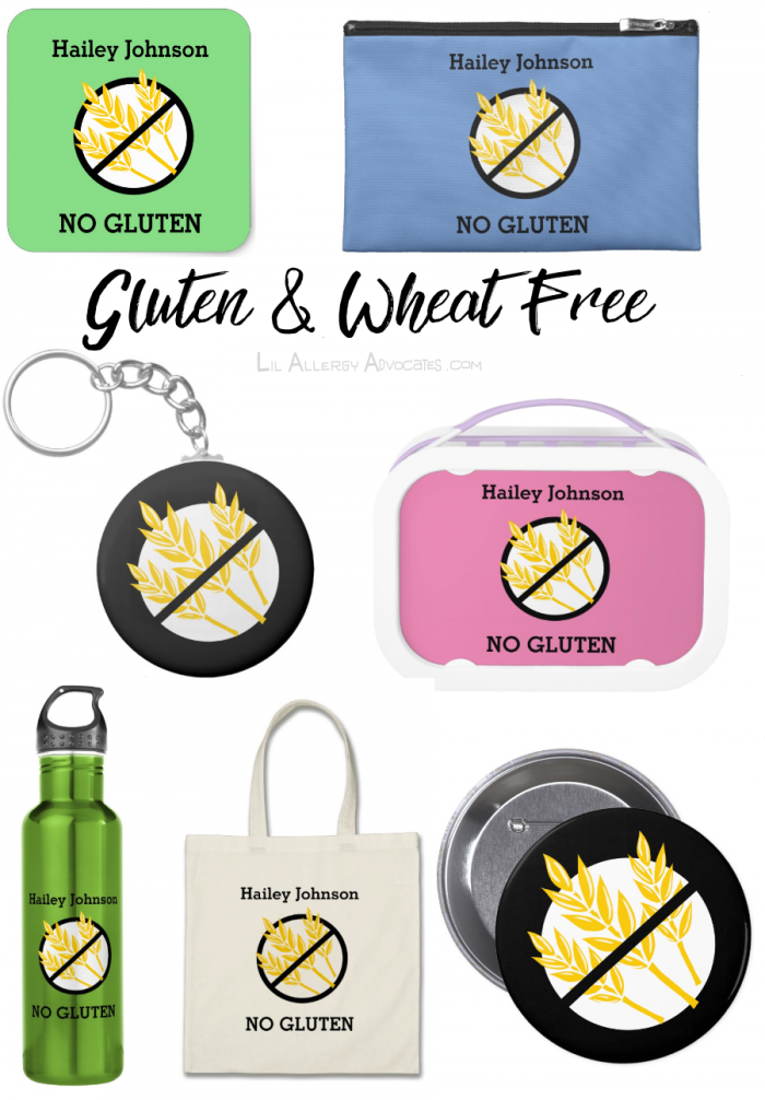 Custom Color Personalized Kids Food Allergy Alerts