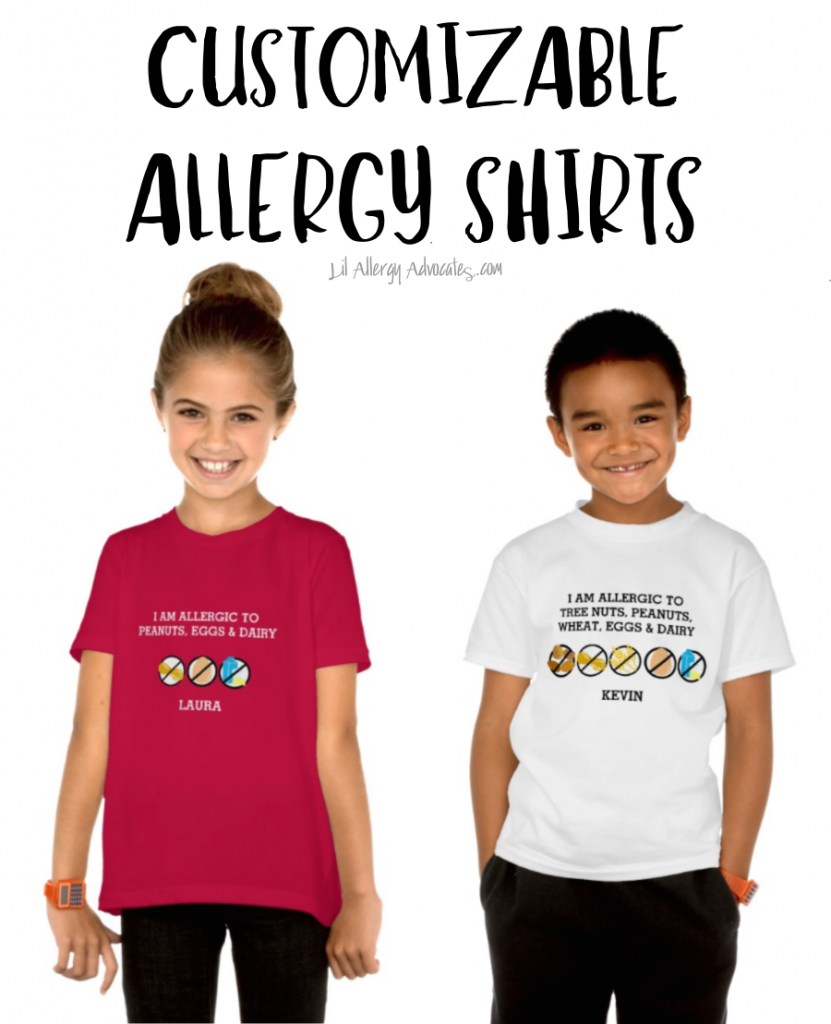 Fully Customizable Multiple Food Allergy Shirt