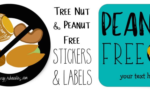 Peanut Tree Nut Free Stickers