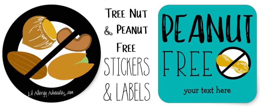 Peanut Tree Nut Free Stickers