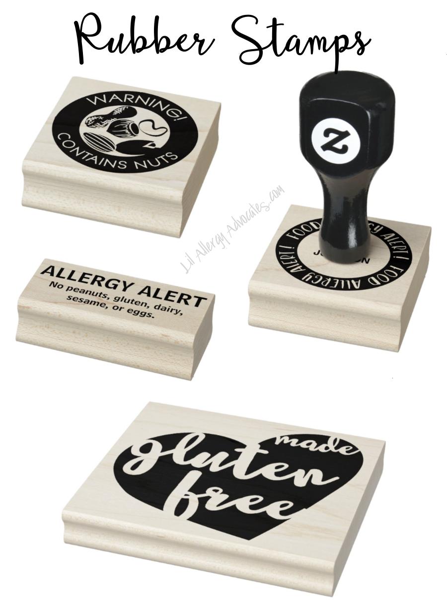 Self Inking & Rubber Allergen Stamps