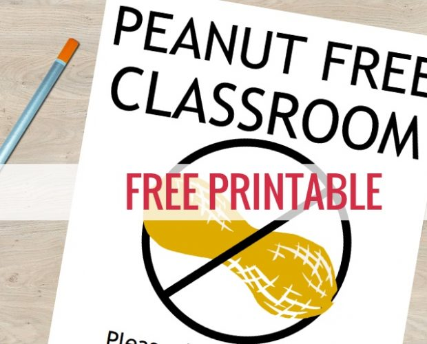 Free Nut Free Classroom Signs
