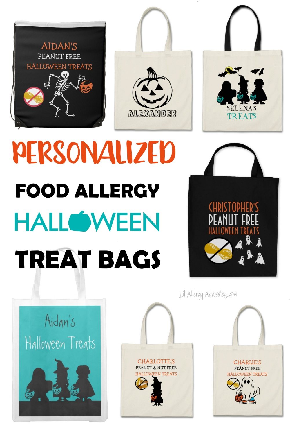 Personalized Food Allergy Treat Bags