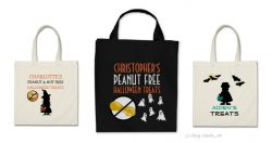 Food Allergy Halloween Bags