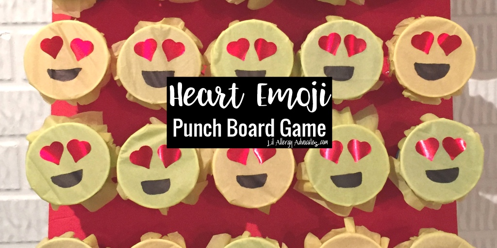 Emoji Valentine Game Punchboard
