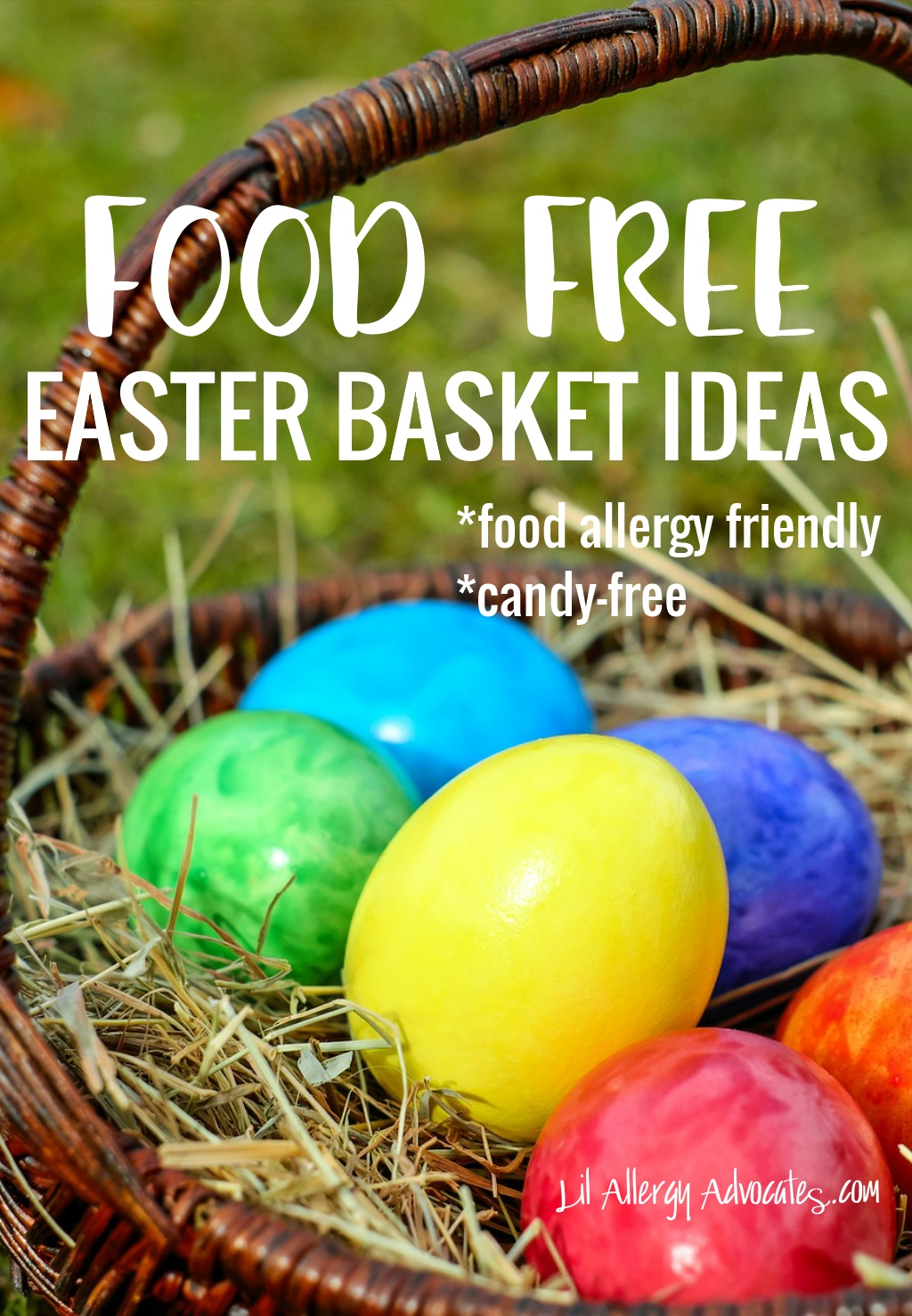 Food free easter basket ideas lil allergy advocates food free easter basket ideas negle Gallery