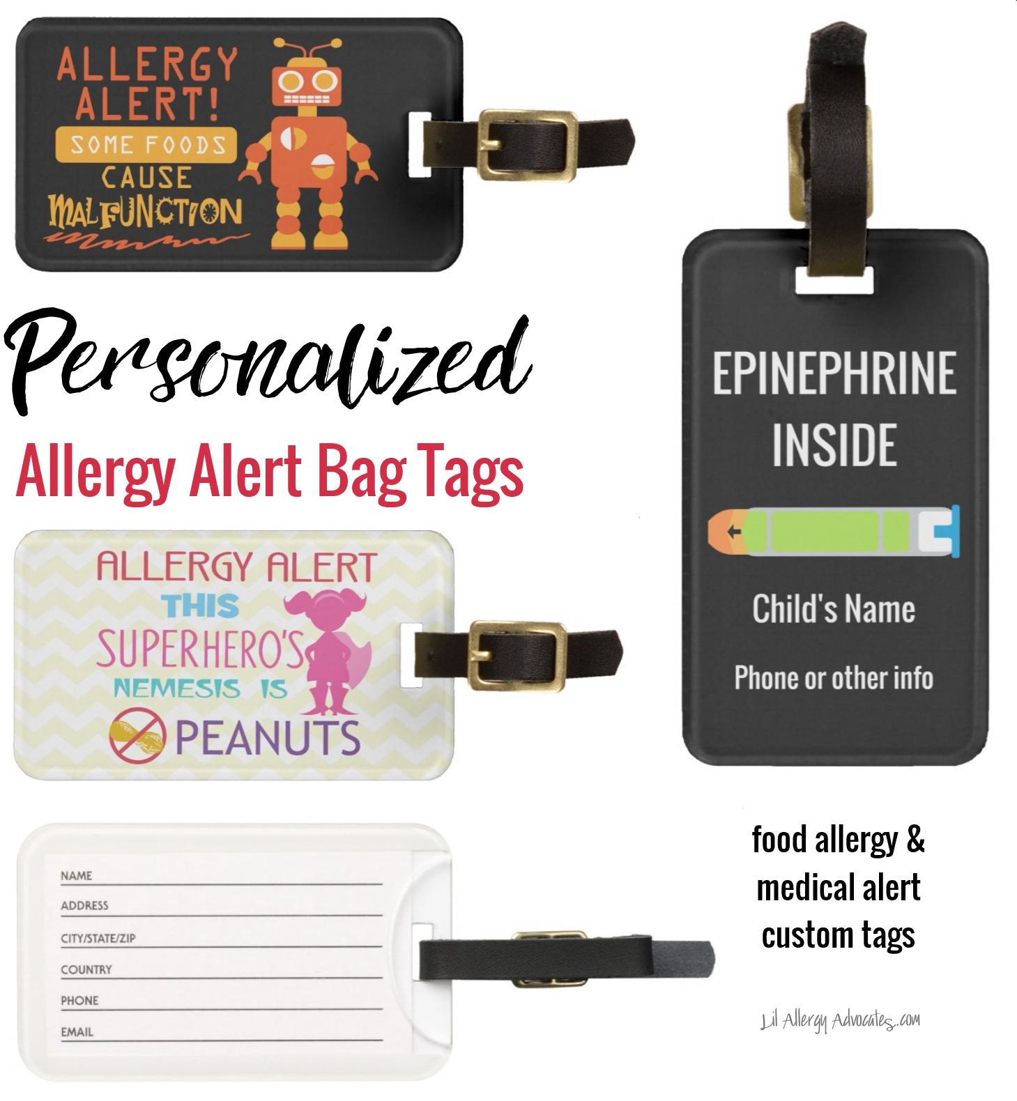 Food Allergy Bag Tag