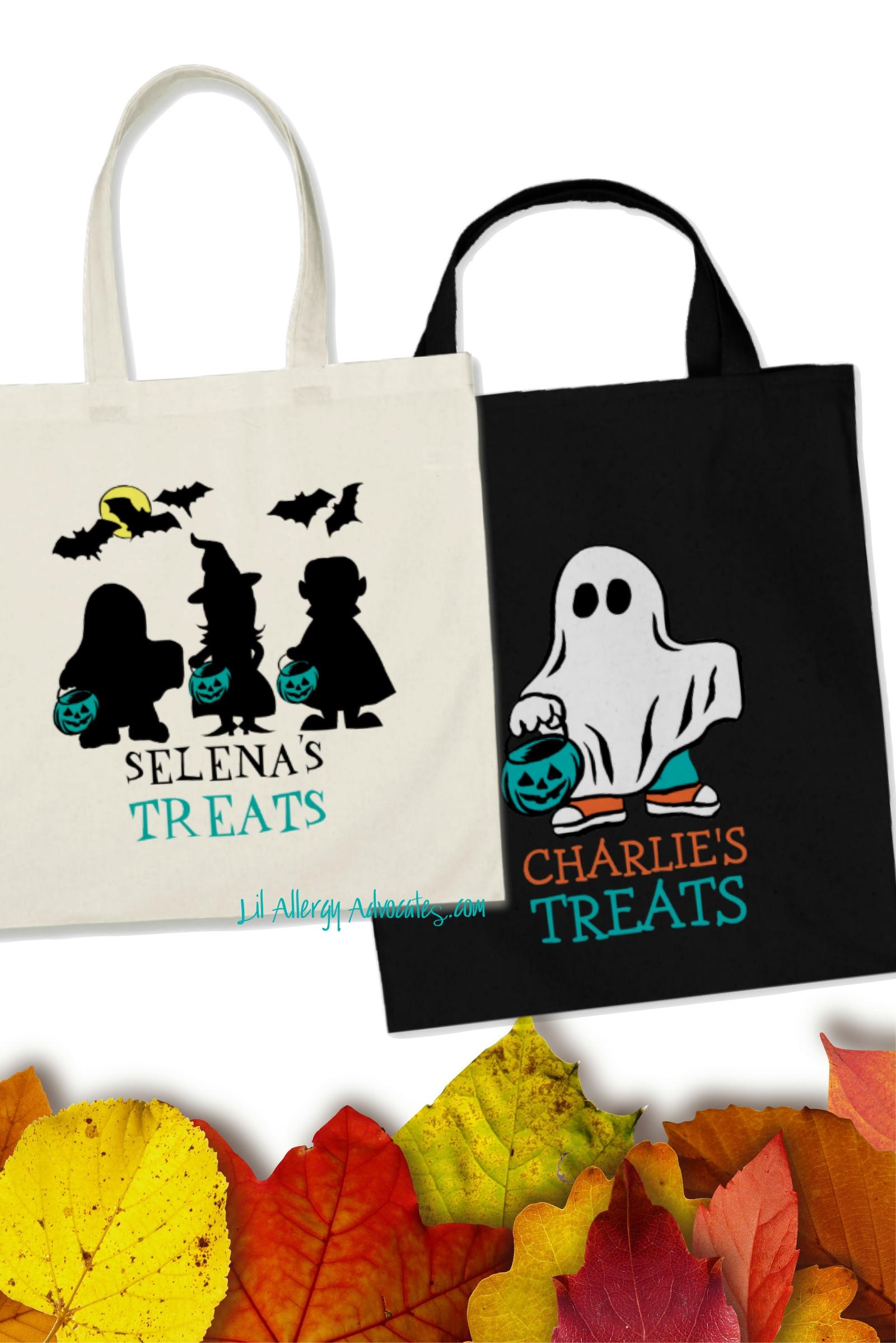 Teal Pumpkin Halloween Treat Bags