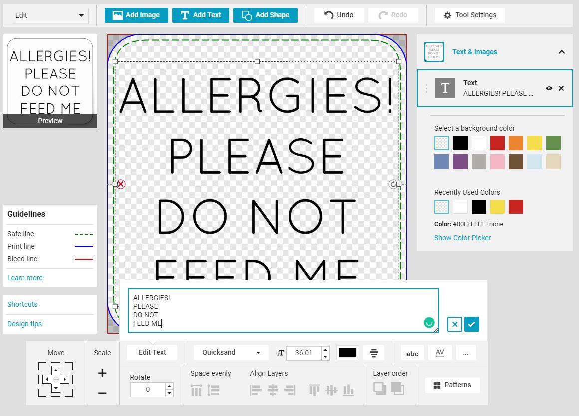 Make Your Own Allergy Alert