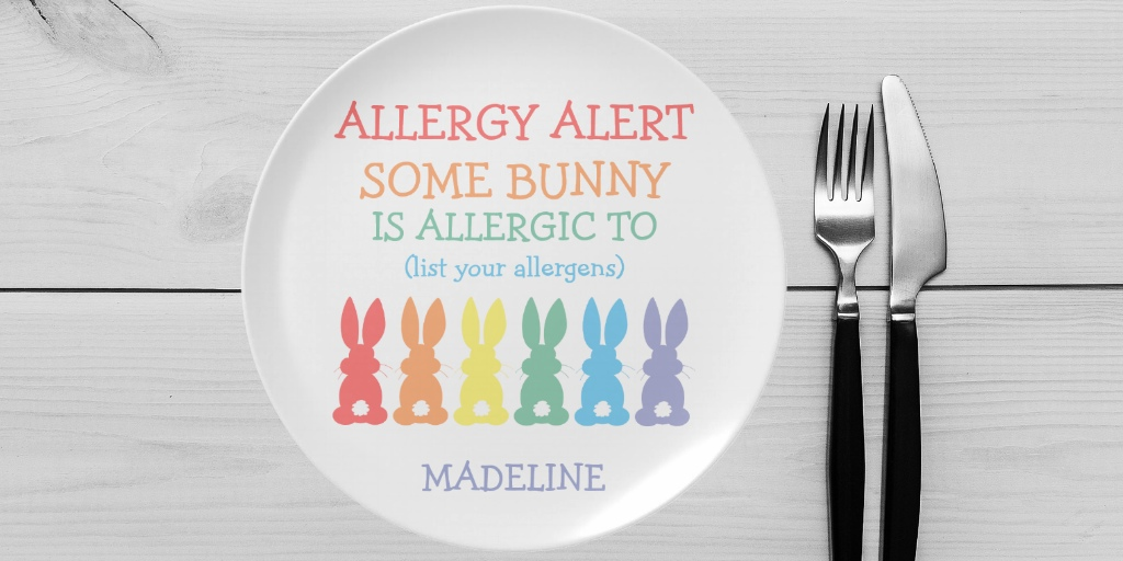 Food Allergy Alert Plates