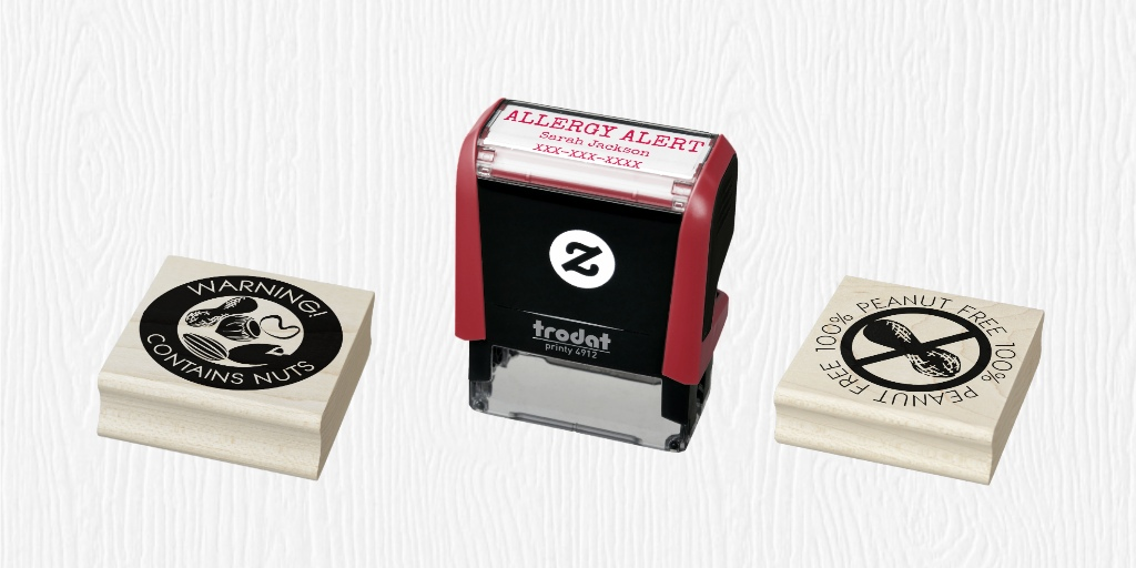 Allergen Symbol Self Inking Stamps