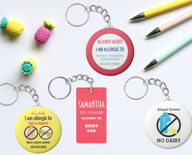 Food Allergy Keychains