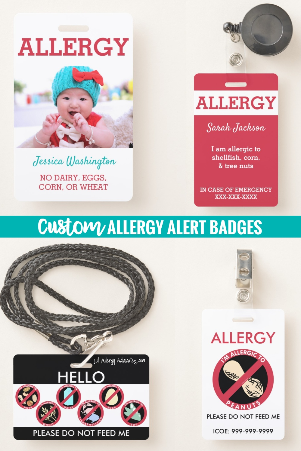 Food Allergy Badges