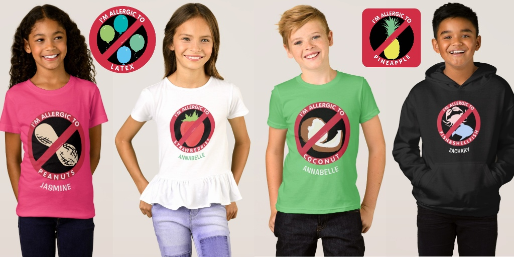 Allergy Symbol Stickers & Shirts