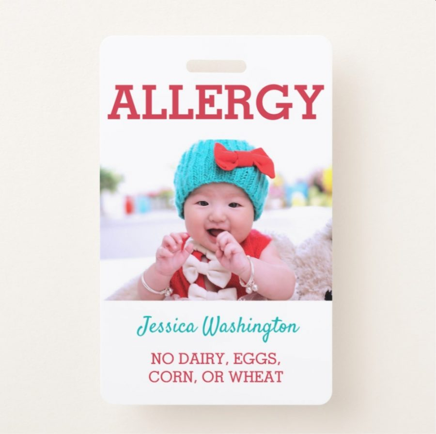 Personalized Allergy Badge