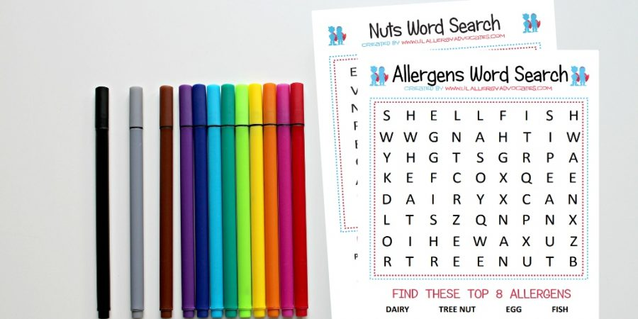 Food Allergy Word Search