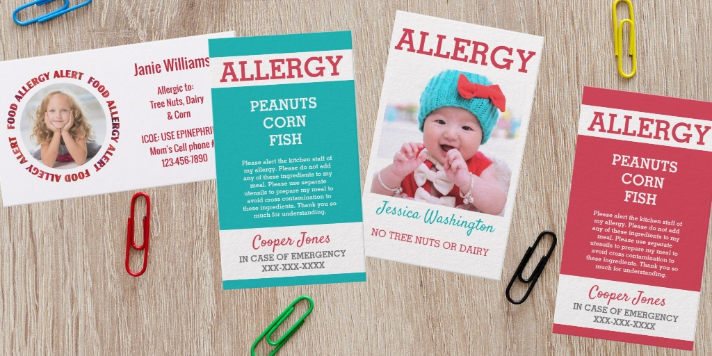 Custom Allergy Cards