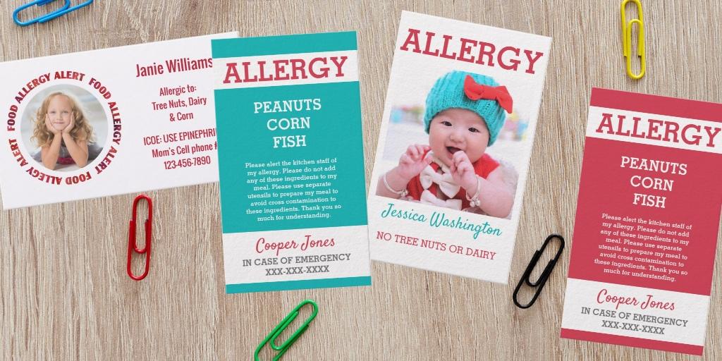 Custom Allergy Cards