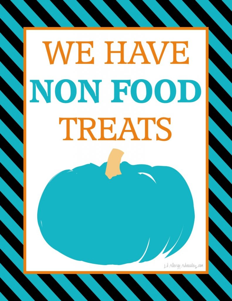 Free Printable Teal Pumpkin Non Food Treat Signs