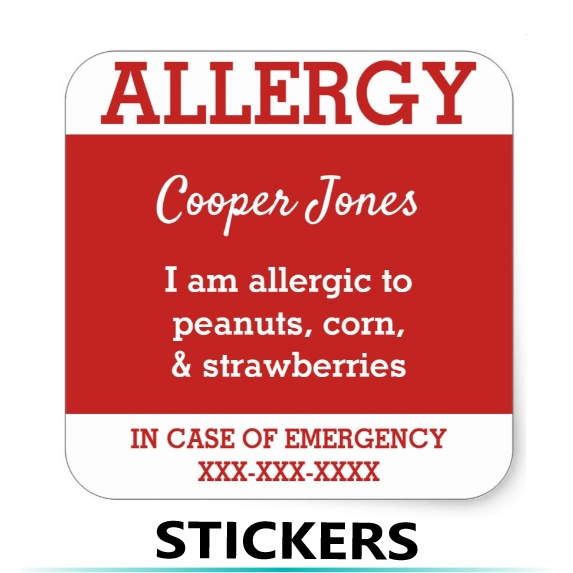 Allergy Stickers